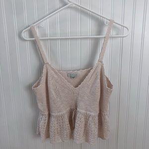 Natural knit tank top